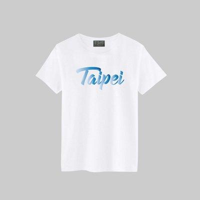 T365 TAIWAN 台灣 臺灣 愛台灣 Taipei 草寫 國家 漸層藍 圖案 T恤 男女皆可穿 多色同款可選 短T