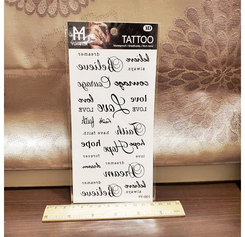【萌古屋】綜合英文 - 男女防水紋身貼紙原宿刺青貼紙FF-001 K19