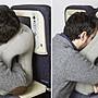 法國woollip空運正品新貨 搭飛機 好睡眠 搭飛機 火車 旅行 抱枕 托墊 術後 趴睡 充氣枕 睡覺神器(藍灰二色)