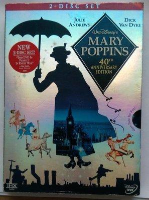 Mary Poppins Disney 歡樂滿人間 迪士尼 40周年版DVD 全新未拆封
