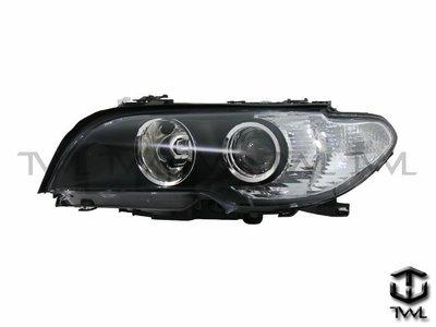 《※台灣之光※》全新 BMW 03 04 05 06年E46小改款2D2門318CI 320CI 325CI黑框魚眼大燈