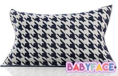 BabyFace【三層紗】經典千鳥格紋紗布料枕巾枕頭巾透氣花色漂亮可挑 自用送禮可批發(50*75cm)