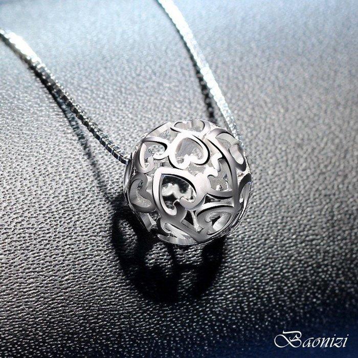 《現貨》玲瓏球項鍊 國際S925銀項鍊 鎖骨鍊 生日禮物 情人節禮物 母親節禮物 聖誕節禮物 Baonizi 寶妮子