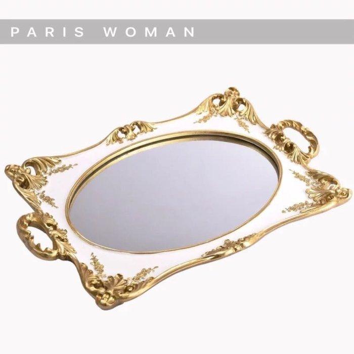.PARIS WOMAN.復古歐式.居家擺飾.首飾.蛋糕長方形托盤