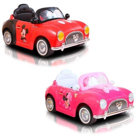 【W先生】伯寶行 迪士尼 米奇 米妮 可開門 雙驅 雙馬達 緩起步 兒童騎乘 兒童電動車 電動 童車 免運