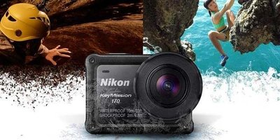 全新 Nikon Keymission 170 Action Cam 4K 防水 藍牙 WiFi NFC 快速過片靚過gopro