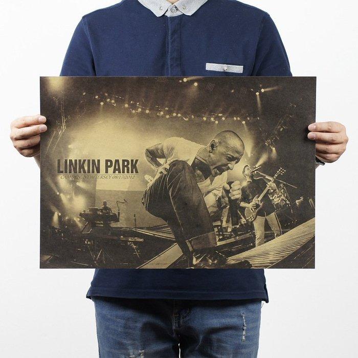 【貼貼屋】聯合公園Linkin Park 懷舊復古 牛皮紙海報 壁貼 店面裝飾 經典電影海報 287