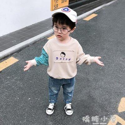 男童衛衣春秋純棉兒童套頭上衣寶寶秋裝長袖T恤女小童嬰兒衣服潮