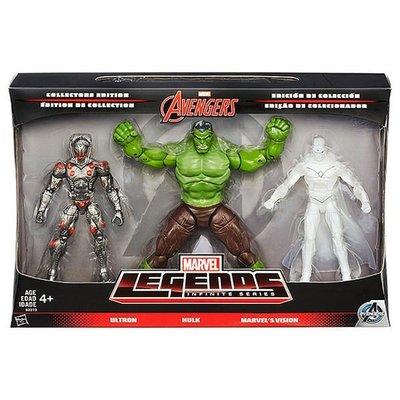 """金錢貓雜貨 全新 marvel legends 6"""" 復仇者聯盟 Hulk Ultron Vision 幻視 奧創 浩克"""
