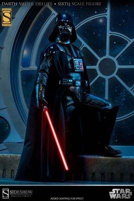 全新罕有特別版Sideshow Exclusive Star Wars Darth Vader 星球大戰黑武士12吋1/6