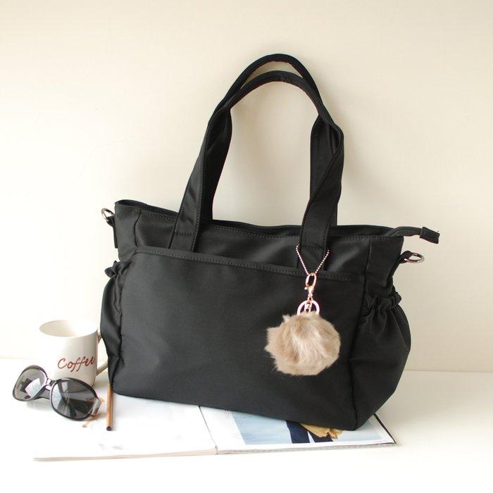 【里樂@ LeaThER】簡約輕量防潑水尼龍托特包空氣包肩背包公事包 媽媽包 大包 水桶包 654