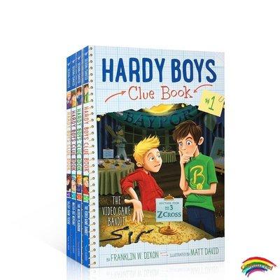 英語原版進口繪本Hardy Boys Clue Book Collection Books 1-4 哈迪男孩線索系列4冊 引人入勝的少年探險英語閱讀故事書 6-