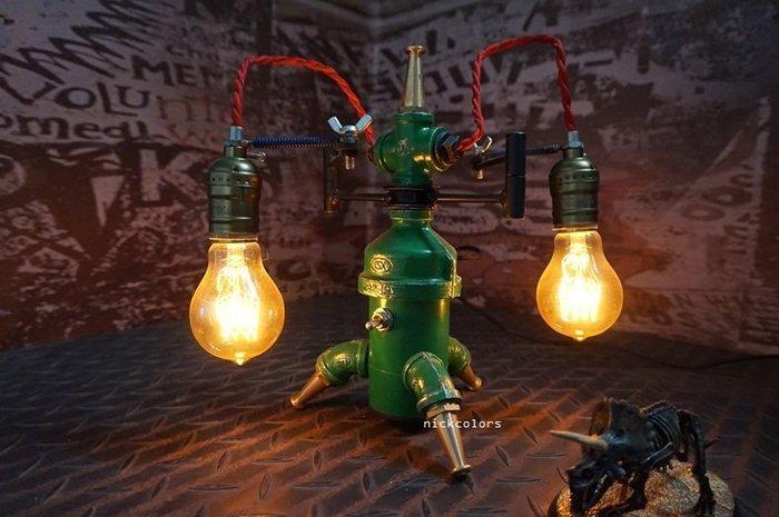 尼克卡樂斯~重工業金屬水管造型桌燈 玄關燈 臥室壁燈 loft 設計款壁燈 餐廳燈 復古燈 服飾店 咖啡廳 造型燈飾