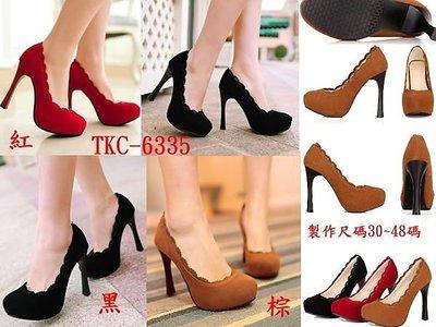 【明良精品】 TKC-6355優質皮革/超高跟高跟鞋【大尺碼40~43碼=965元/44~45碼=1025元】