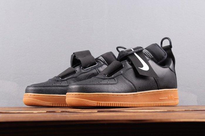 Nike Air Force 1 Utility QS 機能 黑色膠底 男女休閒板鞋AO1531-002