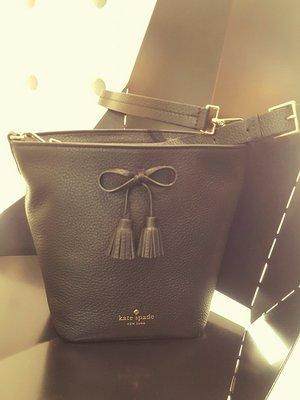 [RainDaniel ] KATE SPADE New York Vanessa bucket bag荔枝紋皮革水桶包