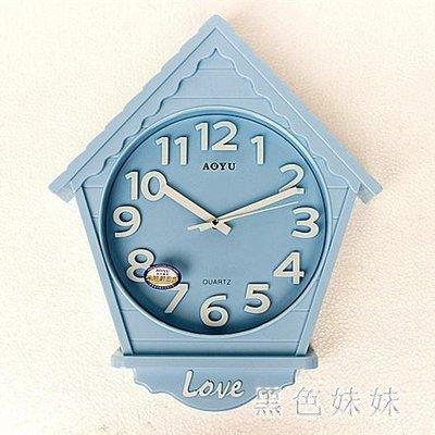 卡通個性臥室客廳掛鐘時尚創意時鐘現代靜音掛表兒童鐘表墻鐘壁鐘 qf11378