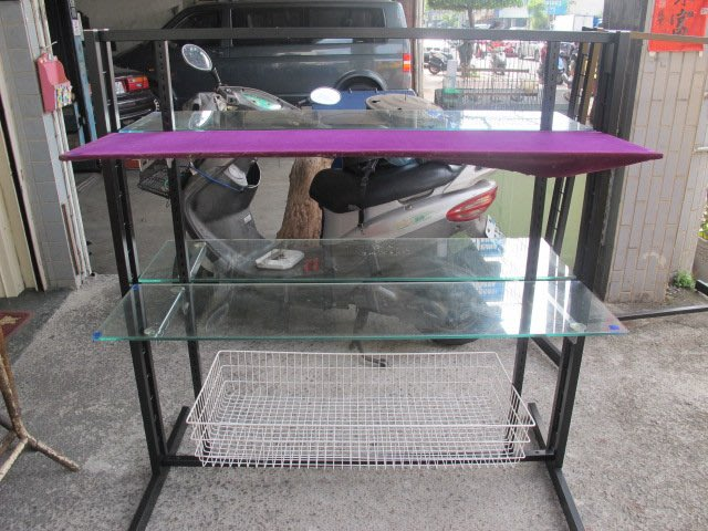 二手舖 NO.3459 玻璃展示架 衣服陳列架 組合式展示櫃