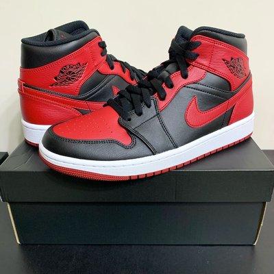 【現貨優惠】Nike Air Jordan 1 Mid Banned 黑紅 Bred 554724-074 US9