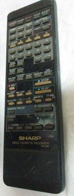 Sharp Video Cassette Recorder G0410GE 夏普早期VHS錄放影機用的遙控器/選台器/本