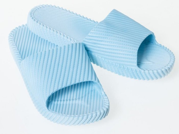 浴室防滑斜紋拖鞋 – 天藍36~37碼 FA-38948