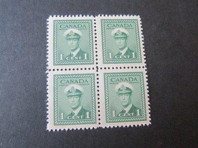 【雲品】加拿大Canada 1942 Sc 249 KGVI(4) MNH