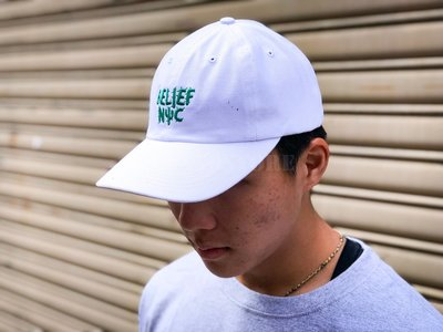 【A-KAY0】BELIEF NYC CACTUS CAP 老帽 白【BLF18FWCCWH】