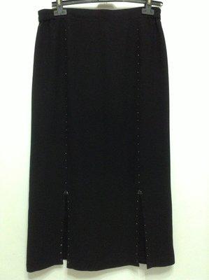 百貨貴婦專櫃  富麗FULEE美麗佳人黑色長裙    14號。蕾絲裙襬性感動人