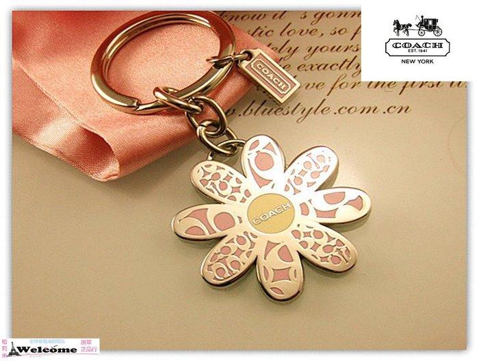 (現貨)COACH 正品專櫃限量版 粉色花瓣  粉色花朵 高端大氣 箱包掛件 吊飾配件組合 -情人禮物 / 附贈原廠盒