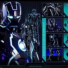 (全新未開)Hot toys iron man mark 4 neon tech 1.0(螢光藍)