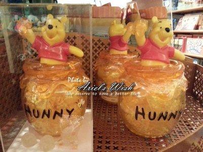 Ariel's Wish預購-東京迪士尼DisneyLand立體頭小熊維尼winnie公仔蜂蜜糖果收納組--日本製--