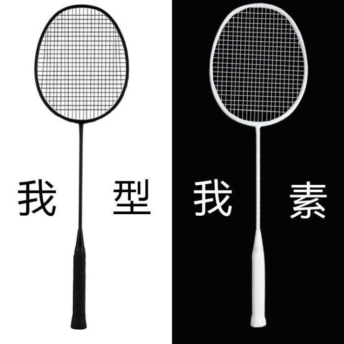 羽毛球拍雙拍碳素纖維超輕進攻型初學耐打訓練用拍男女2支裝
