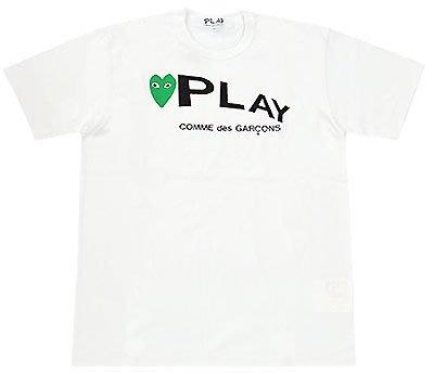 -TAKADA 高田家- 全新日本進口川久保鈴COMME des GARCONS  PLAY系列綠色小愛心LOGOT恤
