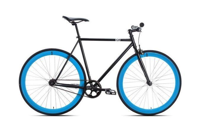 【鐵馬假期】 美國 6KU 鋼管 單速車 入門款 場地車 可配色(黑/藍) LOOP