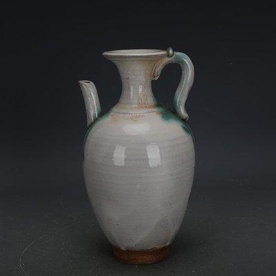 ㊣姥姥的寶藏㊣ 唐代邢窯白釉點彩手工瓷執壺  出土古瓷器古玩古董收藏擺件