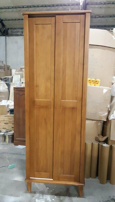 美生活館--全新鄉村傢俱訂製 客製化 全紐松原木 柚木色 雙推門收納櫃 鞋櫃 置物櫃 衣物收納櫃 書櫃 雜物櫃