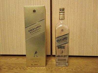 (二手商品)JW Gold Label Reserve蘇格蘭威士忌 空酒瓶/容量1公升/高約34cm(附紙盒)