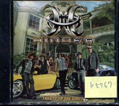 *真音樂* HINDER / TAKE IT TO 二手 K5767 (封面底破.CD有缺口不影響讀取) (清倉.下標賣1)