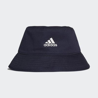 [麥修斯]ADIDAS COTTON BUCKET 愛迪達 漁夫帽 帽子 遮陽帽 藏青色 男女款 情侶款 H36812