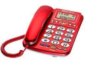 【通訊達人】【免運】SANLUX台灣三洋TEL-856 來電顯示有線電話機_來電超大鈴聲_紅色/鐵灰色/銀色可選