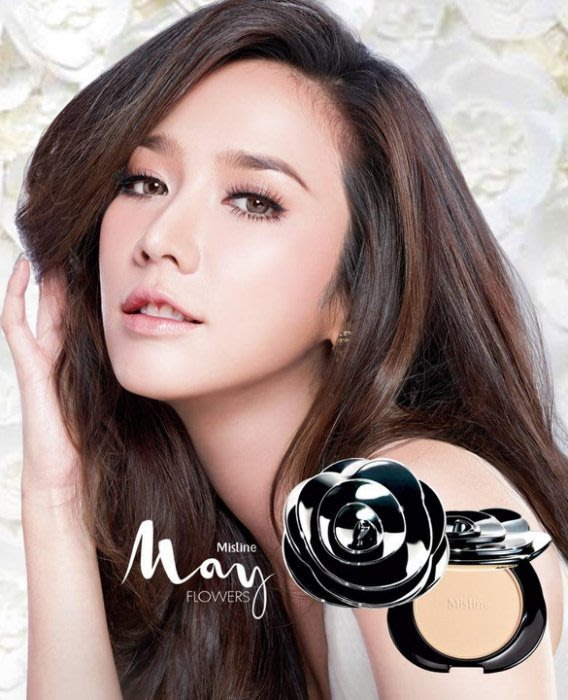 泰國 Mistine May Flower 粉餅 黑花 三重遮瑕控油粉餅 遮瑕 控油 10g