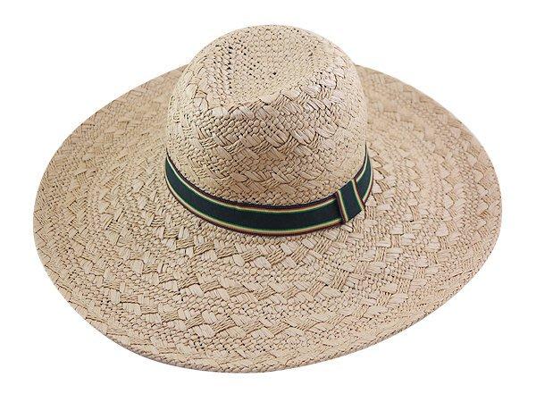 墾丁春浪音樂節 指定 型男(48cm) 紙草大草帽( 條紋織帶) 帽簷超大 登山草帽.釣魚帽-2色