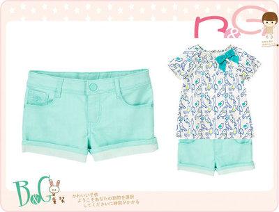 【B& G童裝】正品美國進口GYMBOREE 青色短褲8,12號7-8,9-10yrs