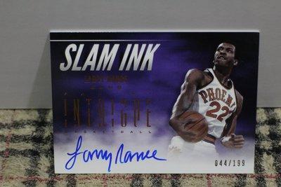 Larry Nance 12-13 Intrigue SLAM INK 太陽隊傳奇球星前鋒 灌籃王限量199大簽跡簽名卡