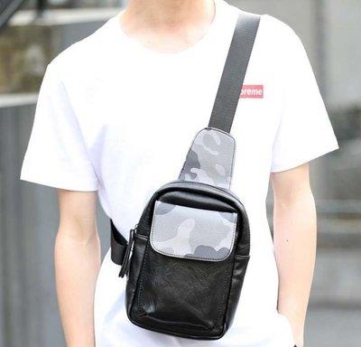 新款新款潮男小挎包 韓版潮流撞色迷彩小胸包 戶外街頭ipad單肩包