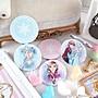 【Disney 】可愛圓形雙面折疊鏡/化妝鏡/隨身鏡-素描冰雪 安娜 艾莎 #小圓鏡 #化妝鏡 #雙面鏡