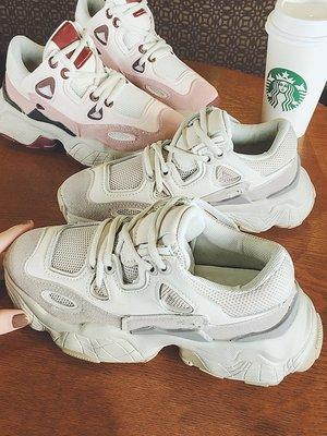 小尤家~網紅老爹鞋女新款韓版網紅智熏鞋百搭厚底增高學生超火運動鞋
