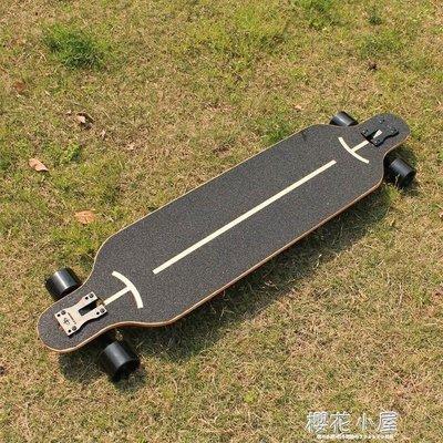 長板公路滑板四輪滑板車青少年韓國刷街男女生舞板成人滑板初學者QM