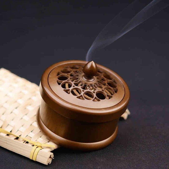 熏香爐 高檔創意銅香爐 禪茶一味 香道茶道 家居飾品盤香線香兩用香爐香道