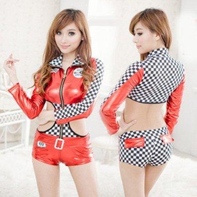 Sexy Racing Girl costume Car Racer Racing Sport Driver Fancy